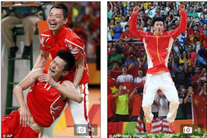 Photos: See How A Chinese Athlete Celebrated After Winning His First Gold Medal